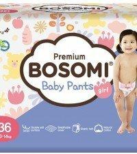 Bosomi Natural Cotton L  для девочек (10-14 кг) 36 шт