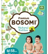 Bosomi Natural Cotton M (7-11 кг) 58 шт